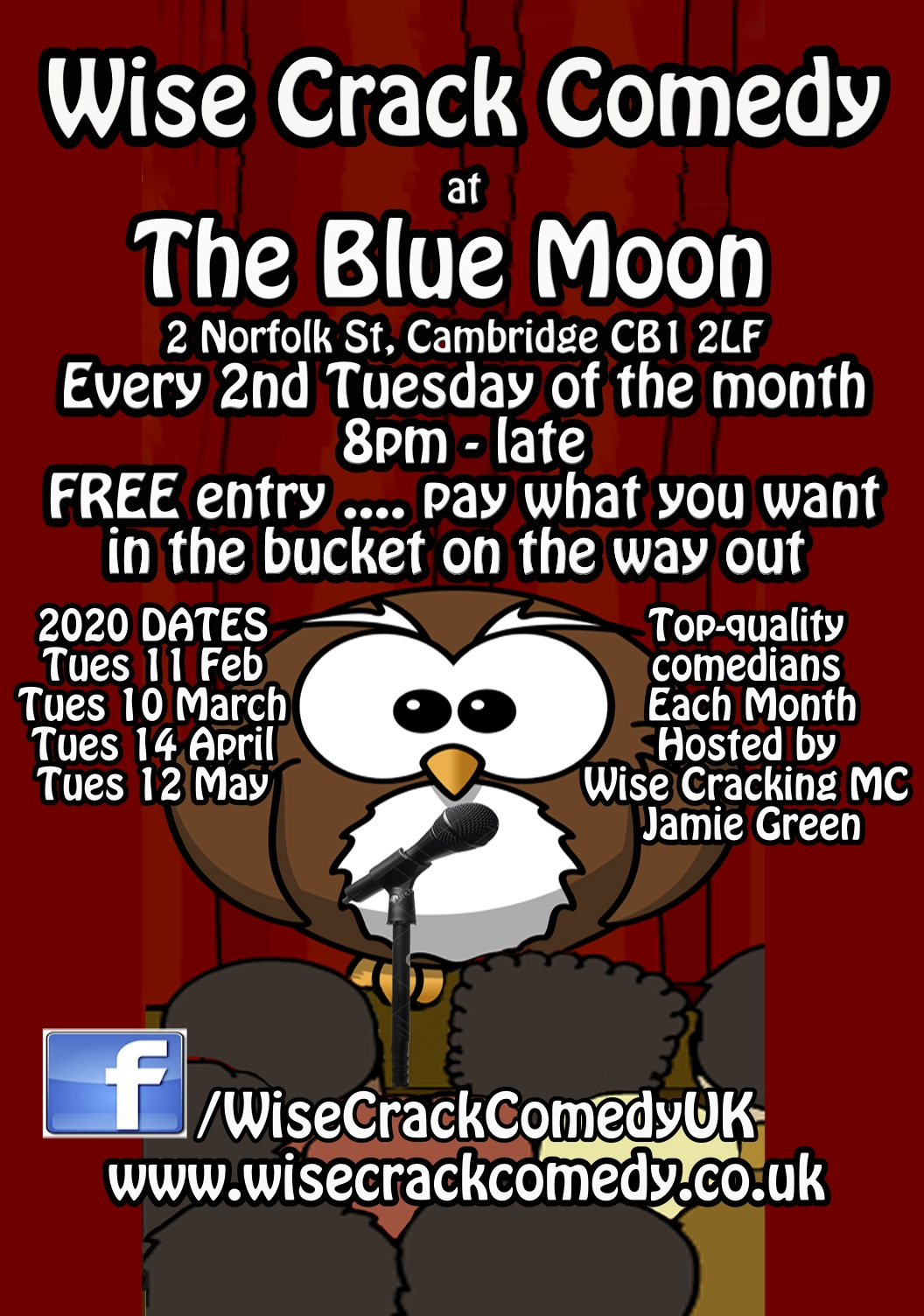 WCC-Blue Moon A5 colour print flyer jp